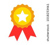star badge vector | Shutterstock .eps vector #1018253461
