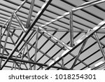 structure of steel roof frame... | Shutterstock . vector #1018254301