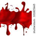Splashes Of Red Paint On A...