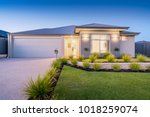 front elevation   facade of a... | Shutterstock . vector #1018259074