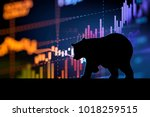 silhouette form of bear on... | Shutterstock . vector #1018259515
