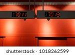 led queue panel   Shutterstock . vector #1018262599