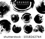grunge collection. vector black ... | Shutterstock .eps vector #1018262764