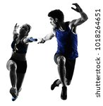 athletics relay runners... | Shutterstock . vector #1018264651