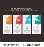 colorful design of info graphic ... | Shutterstock .eps vector #1018269085