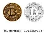 bitcoin digital currency golden ... | Shutterstock .eps vector #1018269175