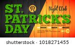 saint patrick's day party... | Shutterstock .eps vector #1018271455