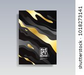 modern abstract cover. cool... | Shutterstock .eps vector #1018273141