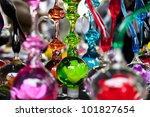 Antique Glass Figures Background