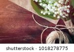bouquet of young lilies of the... | Shutterstock . vector #1018278775