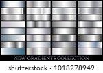 silver gradient set background...   Shutterstock .eps vector #1018278949