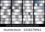 silver gradient set background... | Shutterstock .eps vector #1018278961