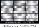 silver gradient set background... | Shutterstock .eps vector #1018278964
