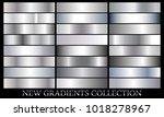 silver gradient set background... | Shutterstock .eps vector #1018278967
