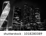 business center in a large city ... | Shutterstock . vector #1018280389