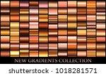 bronze gradient set background...   Shutterstock .eps vector #1018281571