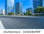 city empty traffic road with... | Shutterstock . vector #1018286989