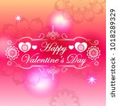 art beautiful bright romantic... | Shutterstock .eps vector #1018289329