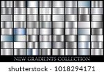 silver gradient set background... | Shutterstock .eps vector #1018294171