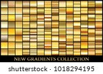 gold gradient set background... | Shutterstock .eps vector #1018294195