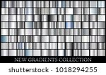 silver gradient set background... | Shutterstock .eps vector #1018294255
