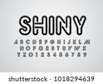 vector of stylized shiny font... | Shutterstock .eps vector #1018294639
