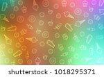 light multicolor vector pattern ... | Shutterstock .eps vector #1018295371