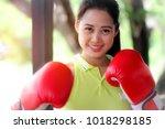 beautiful boxer   beautiful... | Shutterstock . vector #1018298185
