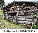 An Old Tack Shed With Antique...