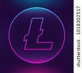 litecoin ltc vector outline... | Shutterstock .eps vector #1018302517