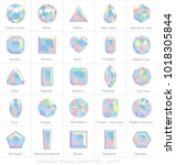 diamond shapes collection with... | Shutterstock .eps vector #1018305844
