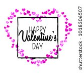 valentines day card with pink...   Shutterstock .eps vector #1018306507