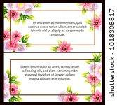 vintage delicate invitation...   Shutterstock .eps vector #1018308817