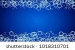 bath foam on gradient... | Shutterstock .eps vector #1018310701