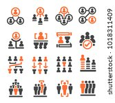 people management icon set... | Shutterstock .eps vector #1018311409