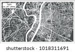 lyon france city map in retro... | Shutterstock . vector #1018311691