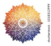 abstract colorful ethnic styled ... | Shutterstock .eps vector #1018312999