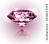 illustration of a shiny... | Shutterstock .eps vector #1018313191