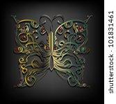 vector butterfly | Shutterstock .eps vector #101831461