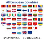 all european countries flags eu ... | Shutterstock .eps vector #1018323211