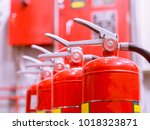 fire extinguishers available in ... | Shutterstock . vector #1018323871