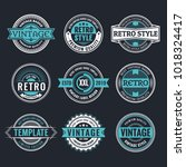 circle vintage and retro badge... | Shutterstock .eps vector #1018324417