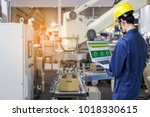industry 4.0 robot concept ... | Shutterstock . vector #1018330615