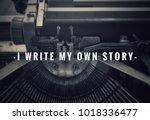 motivational and inspirational... | Shutterstock . vector #1018336477