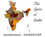 the spice of india   a... | Shutterstock . vector #1018342189
