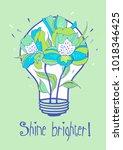 shine brighter. vector... | Shutterstock .eps vector #1018346425
