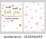 baby shower invitation template ... | Shutterstock .eps vector #1018346455
