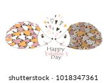 happy valentine's day. vector... | Shutterstock .eps vector #1018347361
