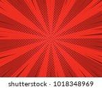 comic book halftone effect... | Shutterstock .eps vector #1018348969