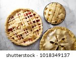 pie crust design ideas  ... | Shutterstock . vector #1018349137